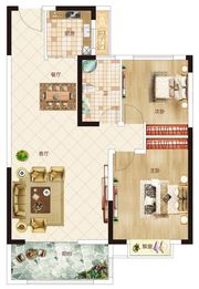 温州商贸城H户型2室2厅95㎡