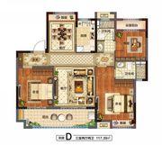 花语江南花溪里(洋房D)3室2厅117.39㎡