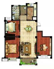 月亮湾B户型3室2厅113.02㎡