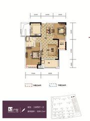 和顺东方花园A23室2厅89.15㎡