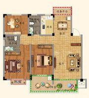优诗美地C户型115-1203室2厅115㎡