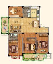 优诗美地F户型150-1554室2厅150㎡