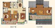 优诗美地C户型115-120加阁楼3室2厅115㎡