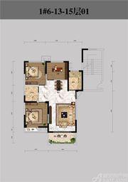 恒馨印象1#6-13-15层013室2厅97.33㎡