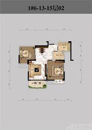 恒馨印象1#6-13-15层022室2厅80.39㎡