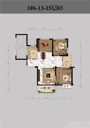 恒馨印象1#6-13-15层033室2厅96.36㎡