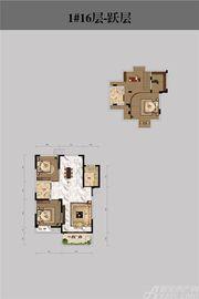 恒馨印象1#16层-跃层3室2厅138.97㎡