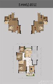 恒馨印象5#10层-跃层5室3厅163.93㎡
