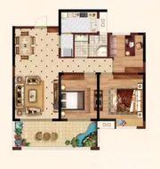 时代名门8#B3室2厅104.61㎡