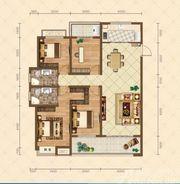 滨江壹号院7#、8#楼四室户型4室2厅143.56㎡