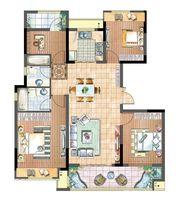 国投皖投·天下名筑C-125户型4室2厅125㎡