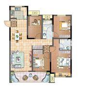 国投皖投·天下名筑B-118户型4室2厅118㎡