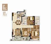 绿地·宿州城际空间站G2户型3室2厅117㎡