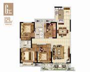 绿地·宿州城际空间站G3户型4室2厅129㎡