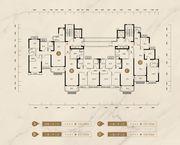 恒大御府4#、11#、16#户型4室2厅133.06㎡