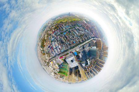庐江中心城航拍看房