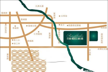 贝林阳江港湾交通图