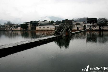 水墨宏村实景图
