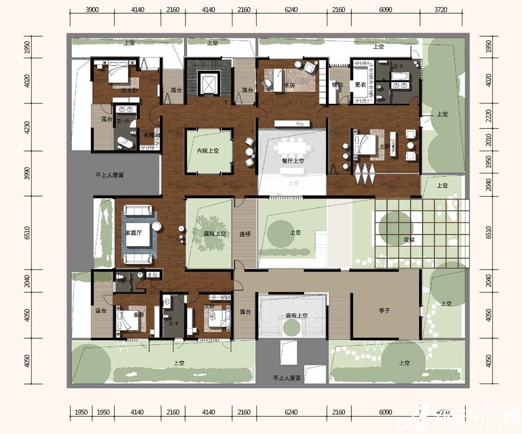 合院合院二层平面图a户型414平米图片