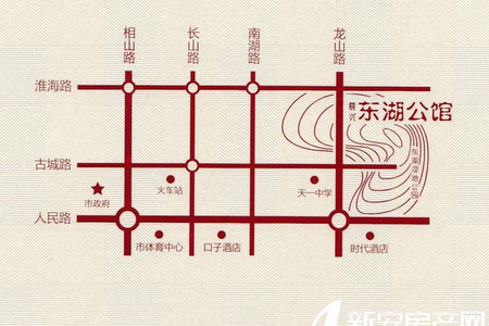 晨兴东湖公馆交通图