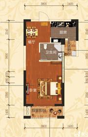 铜冠一品江山E2/E3户型1室1厅51.48㎡