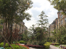 淮北凤凰城凤凰山下的生态小区。