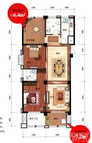 iCAR汽车生活综合体A1户型2室2厅116.5㎡