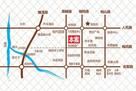 金百合交通图