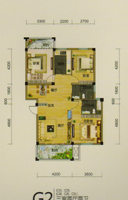 龙登和城G2户型3室2厅100.58㎡