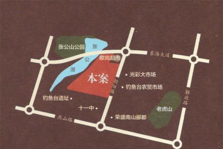 荣盛锦绣香堤交通图