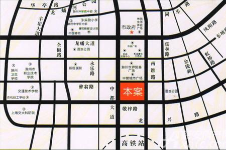 港汇中心交通图
