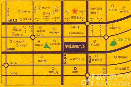 中普城市广场交通图