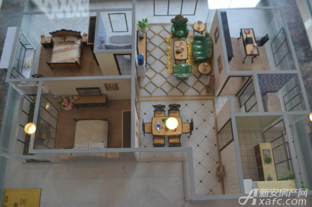 通成紫都通成紫都二期华苑户型样品展示3室2厅115.77平米
