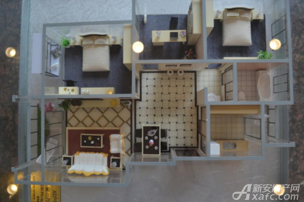 通成紫都通成紫都二期华苑户型样品展示3室2厅114.79平米
