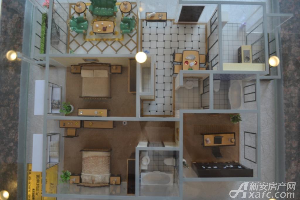 通成紫都通成紫都二期华苑户型样品展示3室2厅127.71平米