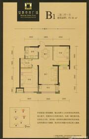 绿地中央广场B1户型2室2厅88㎡