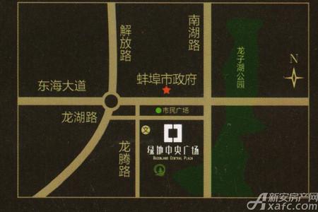 绿地中央广场交通图