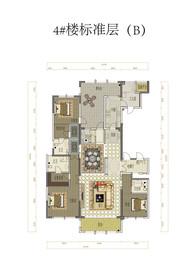 金融世家4#标准层(B)4室3厅280㎡