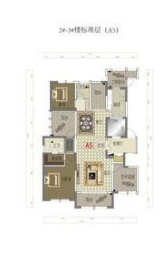金融世家标准层A5户型4室2厅140㎡