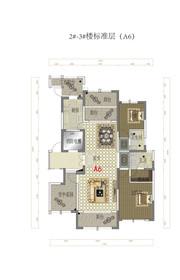 金融世家标准层A6户型4室2厅140㎡