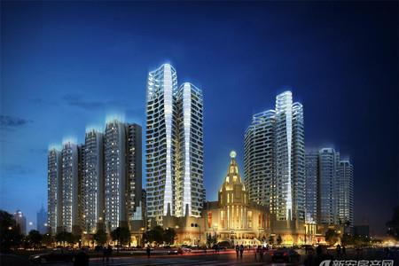 蚌埠百乐门文化经贸广场效果图