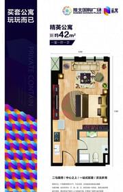 国购广场私寓42㎡精装1室1厅42㎡