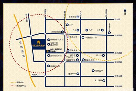 拂晓新城交通图
