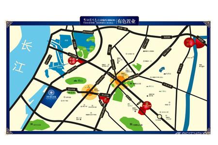 铜冠迎江花园交通图
