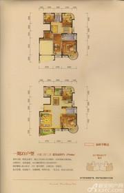 两淮融景苑Z1户型6室3厅279.04㎡