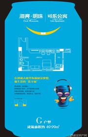 海亮明珠G(公寓)户型1室1厅49.99㎡