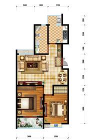 润泽家园G户型2室2厅1卫2室2厅99.87㎡