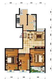 润泽家园H户型 3室2厅1卫3室2厅111.11㎡
