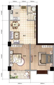 雨山银河湾S3户型 2室2厅1卫2室2厅93㎡