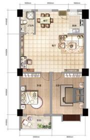 雨山银河湾S2户型 2室2厅1卫2室2厅110㎡